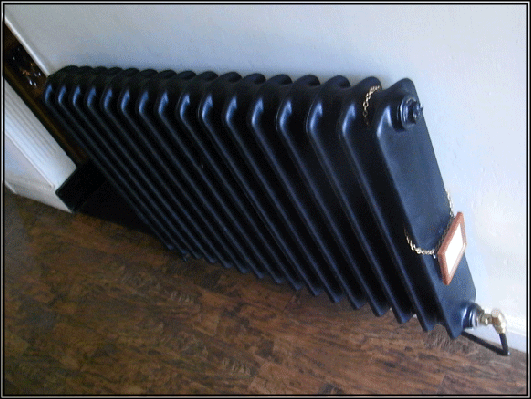 Working cast iron radiator